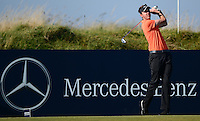 Ashley Chesters of England tees off during Round 2 of the 2015 Alfred Dunhill Links Championship at the Old Course, St Andrews, in Fife, Scotland on 2/10/15.<br /> Picture: Richard Martin-Roberts | Golffile