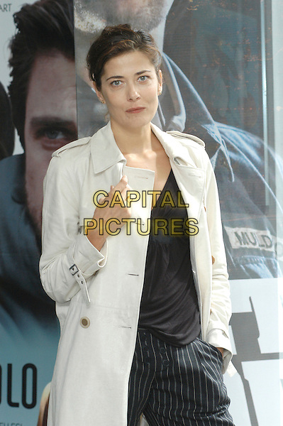 "SANDRA CECCARELLI.Photocall for ""Piano, solo"", Rome, Italy..September 18th, 2007.half length beige trench coat mac hand .CAP/CAV.©Luca Cavallari/Capital Pictures."