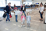 Two French families head to their gate to board a flight home at the Maynard H. Jackson Jr. International Terminal at Hartsfield–Jackson Atlanta International Airport, in Atlanta, Georgia on August 28, 2013.