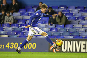 1st November 2017, St. Andrews Stadium, Birmingham, England; EFL Championship football, Birmingham City versus Brentford; Sam Gallagher of Birmingham City keeps control of the ball on the run