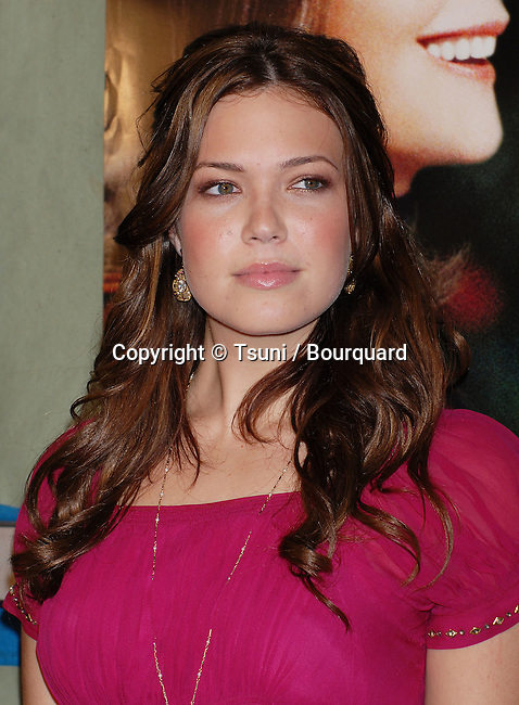 Mandy Moore arriving at the BECAUSE I SAID SO Premiere at the Arclight Theatre In Los Angeles. January 30, 2007.<br /> <br /> headshot<br /> Pink  dress