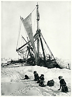 BNPS.co.uk (01202 558833)<br /> Pic: Bonhams/BNPS<br /> <br /> Death of the Endurance as the ice finally crushes the ship.<br /> <br /> Photographic record of one of the worlds most epic tales of endurance.<br /> <br /> Remarkable photos documenting Sir Ernest Shackleton's ill-fated attempt to cross Antarctica over 100 years ago have emerged for sale for £40,000.<br /> <br /> The 1914-17 expedition is remembered for one of the greatest feats of human bravery and endurance after the party became stranded for 18 months in freezing conditions. <br /> <br /> The expedition's official photographer, Frank Hurley, captured their ordeal on camera and made presentation albums when he eventually returned to Britain.<br /> <br /> One album was given to King George V. Seven are believed to survive today, including the one for sale that has been owned by a private collector for over 40 years.