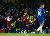30th September 2017, Stamford Bridge, London, England; EPL Premier League football, Chelsea versus Manchester City; Kevin De Bruyne of Manchester City celebrates after scoring his sides 1st goal in the 62nd minute to make it 0-1