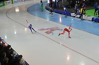 SCHAATSEN: GRONINGEN: Sportcentrum Kardinge, 17-01-2015, KPN NK Sprint, Letitia de Jong, Marrit Leenstra, ©foto Martin de Jong