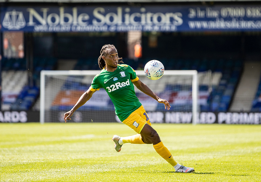 Preston North End's Daniel Johnson <br /> <br /> <br /> Photographer Andrew Kearns/CameraSport<br /> <br /> The EFL Sky Bet Championship - Luton Town v Preston North End - Saturday 20th June 2020 - Kenilworth Road - Luton<br /> <br /> World Copyright © 2020 CameraSport. All rights reserved. 43 Linden Ave. Countesthorpe. Leicester. England. LE8 5PG - Tel: +44 (0) 116 277 4147 - admin@camerasport.com - www.camerasport.com