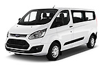 2018 Ford Transit-Custom Trend 4 Door Passanger Van Angular Front stock photos of front three quarter view