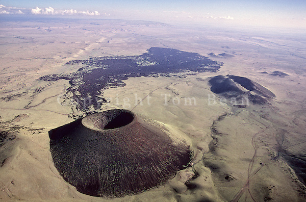 Volcanic Cinder Cone and Lava Flow, S.P. Crater, Near Flagstaff, Arizona.