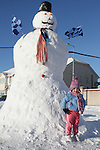 Chelsea Moore with the 20ft Snowman, Laryx Court, Duleek 2/12/10..(Photo credit should read Jenny Matthews www.newsfile.ie)....This Picture has been sent you under the conditions enclosed by:.Newsfile Ltd..The Studio,.Millmount Abbey,.Drogheda,.Co Meath..Ireland..Tel: +353(0)41-9871240.Fax: +353(0)41-9871260.GSM: +353(0)86-2500958.email: pictures@newsfile.ie.www.newsfile.ie.