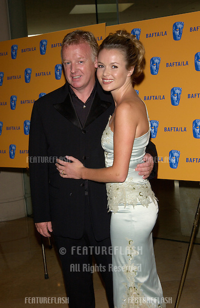 Actress AMANDA HOLDEN & husband comedian LES DENNIS at the 11th Annual BAFTA/LA Britannia Awards at the Beverly Hills Hilton..12APR2002.  © Paul Smith / Featureflash