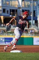 Peoria Chiefs third baseman Danny Diekroeger (7) rounds third during a game against the Lansing Lugnuts on June 6, 2015 at Cooley Law School Stadium in Lansing, Michigan.  Lansing defeated Peoria 6-2.  (Mike Janes/Four Seam Images)