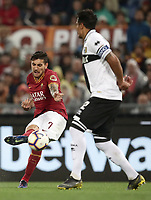 Football, Serie A: AS Roma - Parma, Olympic stadium, Rome, May 26, 2019. <br /> Roma' Lorenzo Pellegrini (l) in action with Parma's captain Bruno Alves (r) during the Italian Serie A football match between Roma and Parma at Olympic stadium in Rome, on May 26, 2019.<br /> UPDATE IMAGES PRESS/Isabella Bonotto