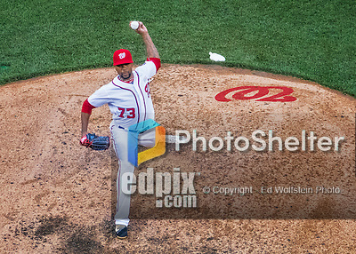 14 May 2016: Washington Nationals pitcher Felipe Rivero on the mound during the first game of a double-header against the Miami Marlins at Nationals Park in Washington, DC. The Nationals defeated the Marlins 6-4 in the afternoon matchup.  Mandatory Credit: Ed Wolfstein Photo *** RAW (ARW) Image File Available ***