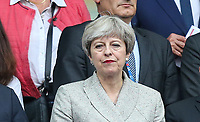 Prime Minister Theresa May (Centre) is in attendance during the International Friendly match between France and England at Stade de France, Paris, France on 13 June 2017. Photo by David Horn/PRiME Media Images.