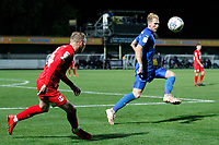 Mitch Pinnock of AFC Wimbledon in action during the The Leasing.com Trophy match between AFC Wimbledon and Leyton Orient at the Cherry Red Records Stadium, Kingston, England on 8 October 2019. Photo by Carlton Myrie / PRiME Media Images.
