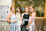 Enjoying the Rathmore Debs at Ballyroe Heights Hotel on Tuesday were l-r  Ava Murphy, Lilly O'Leary, Roisin Daly and Sinead O'Keeffe