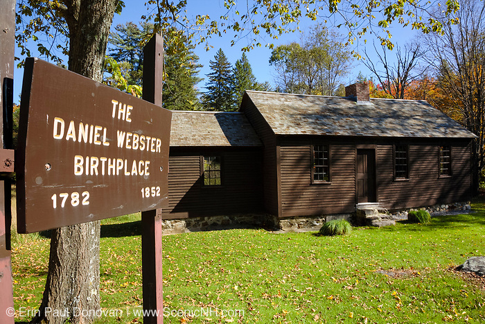 Daniel Webster Birthplace in Franklin, New Hampshire USA during the autumn months
