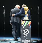 10.01.2019, Mercedes Benz Arena, Berlin, GER, Handball WM 2019, Deutschland vs. Korea, im Bild <br /> Eröffnung, BP Walter Steinmeier, IHF Praesident<br /> <br />      <br /> Foto © nordphoto / Engler