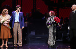 Siobhan Dillon, Michael Xavier, Glenn Close and Fred Johanson during the Opening Night Curtain Call bows for Andrew Lloyd Webber's 'Sunset Boulevard' at the Palace Theatre on February 9, 2017 in New York City.