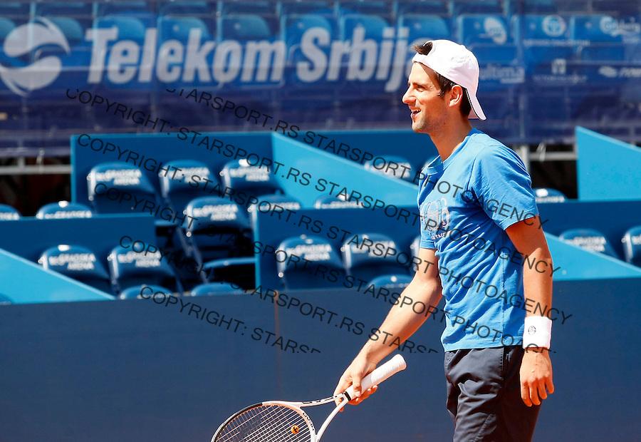 Tenis, .SERBIA OPEN 2010.Novak Djokovic, trening.Belgrade, 03.05.2010..foto: Srdjan Stevanovic/Starsportphoto ©
