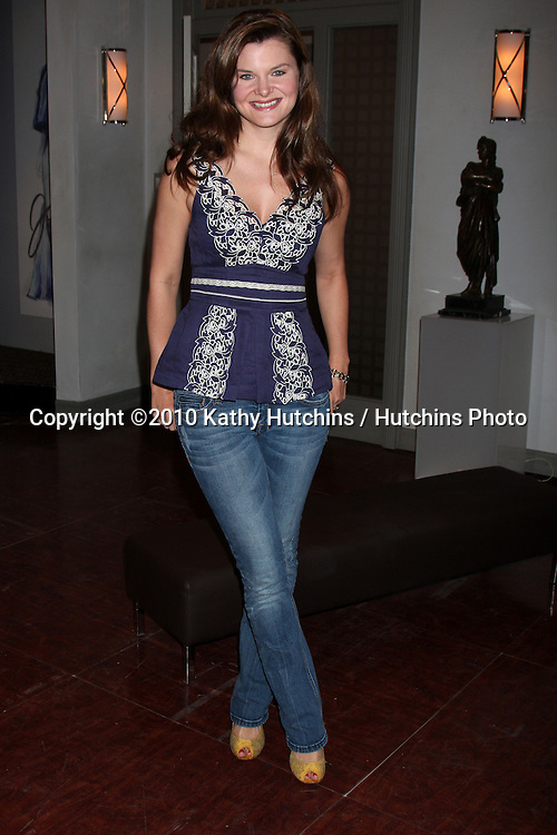 """Heather Tom .Guinness World Records®  presents THE BOLD AND THE BEAUTIFUL with the certification as the  """"Most Popular Daytime TV Soap - Current..Bold & Beautiful Set, Stage 31, CBS Televsion CIty.Los Angeles, CA.May 18, 2010.©2010 Kathy Hutchins / Hutchins Photo.."""