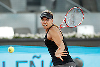 German tennis player Sabine Lisicki during Madrid Open Tennis 2014 match. May 08, 2014. (ALTERPHOTOS/Victor Blanco)