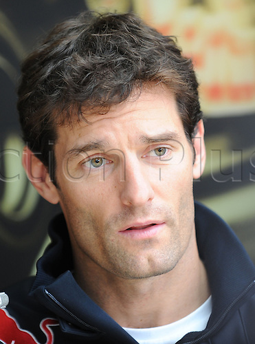 Australian driver Mark†Webber of Red Bull talks to journalists in Spa-Francorchamps, Belgium, 26 August 2010. On 29 August 2010, the Belgian Grand Prix, the 13th race of the Formula One season,