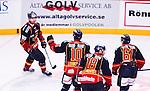 Stockholm 2014-09-17 Ishockey SHL Djurg&aring;rdens IF - Leksands IF :  <br /> Djurg&aring;rdens Joakim Eriksson firar sitt 2-0 med Mikael Samuelsson som passade fram till m&aring;let<br /> (Foto: Kenta J&ouml;nsson) Nyckelord:  Djurg&aring;rden DIF Hockey Globen Ericsson Globe Arena SHL Leksand LIF jubel gl&auml;dje lycka glad happy
