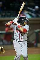 Spencer Kieboom (24) of the Potomac Nationals at bat against the Winston-Salem Dash at BB&T Ballpark on April 30, 2015 in Winston-Salem, North Carolina.  The Nationals defeated the Dash 5-4..  (Brian Westerholt/Four Seam Images)