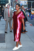NEW YORK, NY - OCTOBER 10: Tracee Ellis Ross at The  Late Show With Stephen Colbert on October 10, 2017 in New York City. <br /> CAP/MPI99<br /> &copy;MPI99/Capital Pictures