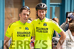 Barry Fitzgerald and Bernard Sweeney from the Killorglin cycling club at the Rás Mumhan cycling in Killorglin on Easter Monday.