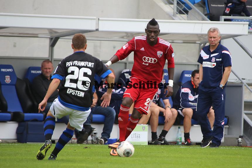 D. Da Costa (Ingolstadt) gegen Denis Epstein (FSV) - FSV Frankfurt vs. FC Ingolstadt, 8. Spieltag, Frankfurter Volksbank Stadion