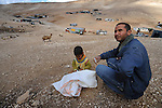 ISRAEL Jahalin encampment, West Bank<br />