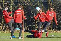 Makoto Hasebe (Eintracht Frankfurt), Jetro Willems (Eintracht Frankfurt), Danny da Costa (Eintracht Frankfurt) - 14.02.2018: Eintracht Frankfurt Training, Commerzbank Arena