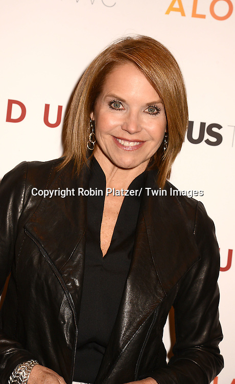 "Katie Couric attend the New York Premiere of ""FED UP"" on May 6, 2014 at The Museum of Modern Art in New York City."
