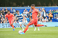 Huddersfield Town's Karlan Grant scores the opening goal <br /> <br /> Luke Brennan/CameraSport<br /> <br /> The EFL Sky Bet Championship - Queens Park Rangers v Huddersfield Town - Saturday 10th August 2019 - Loftus Road - London<br /> <br /> World Copyright © 2019 CameraSport. All rights reserved. 43 Linden Ave. Countesthorpe. Leicester. England. LE8 5PG - Tel: +44 (0) 116 277 4147 - admin@camerasport.com - www.camerasport.com