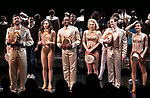 """Tony Yazbeck, Jenna Nicole Schoen, Anthony Wayne, Robyn Hurder, Jay Armstrong-Johnson and Melanie Moore during Curtain Call for the New York City Center Celebrates 75 Years with a Gala Performance of """"A Chorus Line"""" at the City Center on November 14, 2018 in New York City."""