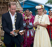 Kate, Duchess Of Cambridge & Prince William in Solomon islands and Tuvalu island