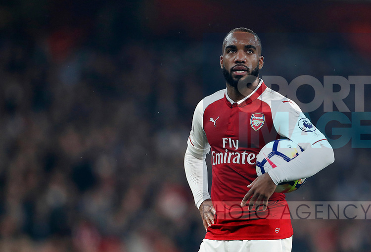 Arsenal's Alexandre Lacazette in action during the premier league match at the Emirates Stadium, London. Picture date 25th September 2017. Picture credit should read: David Klein/Sportimage