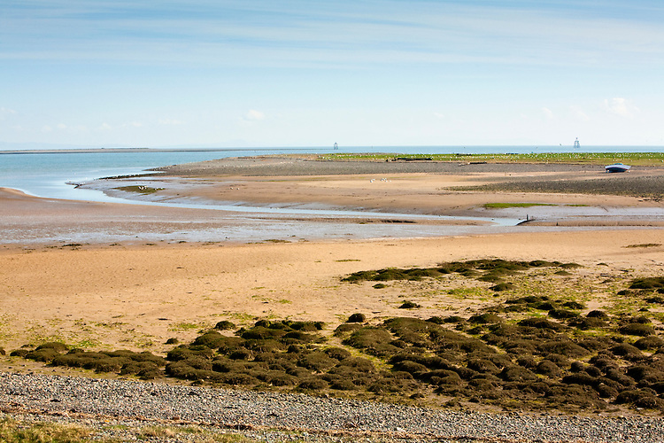 Overlooking the beach and Duddon Estuary on Walney Island Nature Reserve, Barrow in Furness, Cumbria, Uk