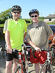 Dermot Logue and David Monaghan at the annual Dromin charity cycle. Photo:Colin Bell/pressphotos.ie