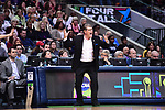 DALLAS, TX - MARCH 31:  Head coach Geno Auriemma of the Connecticut Huskies reacts to a play during the 2017 Women's Final Four at American Airlines Center on March 31, 2017 in Dallas, Texas. (Photo by Justin Tafoya/NCAA Photos via Getty Images)