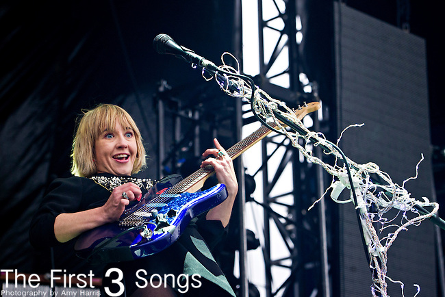 Ritzy Bryan of The Joy Formidable performs during the The Beale Street Music Festival in Memphis, Tennessee.