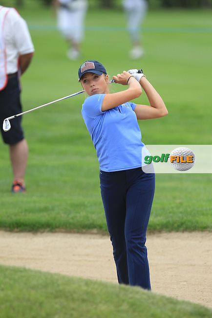 Sierra Brooks on the 5th during the Friday afternoon Fourballs of the 2016 Curtis Cup at Dun Laoghaire Golf Club on Friday 10th June 2016.<br /> Picture:  Golffile | Thos Caffrey