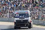 German driver Andre Kursim belonging German team Tankpool 24 Racing during the fist race R1 of the XXX Spain GP Camion of the FIA European Truck Racing Championship 2016 in Madrid. October 01, 2016. (ALTERPHOTOS/Rodrigo Jimenez)
