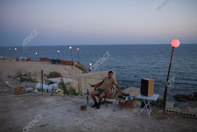 Over looking the beach in the resort community of Latakia, Syria.