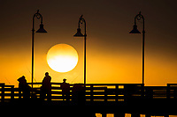 Sunrise over the Main Street Pier, Daytona Beach, FL, February 2018. (Photo by Brian Cleary/www.bcpix.com)