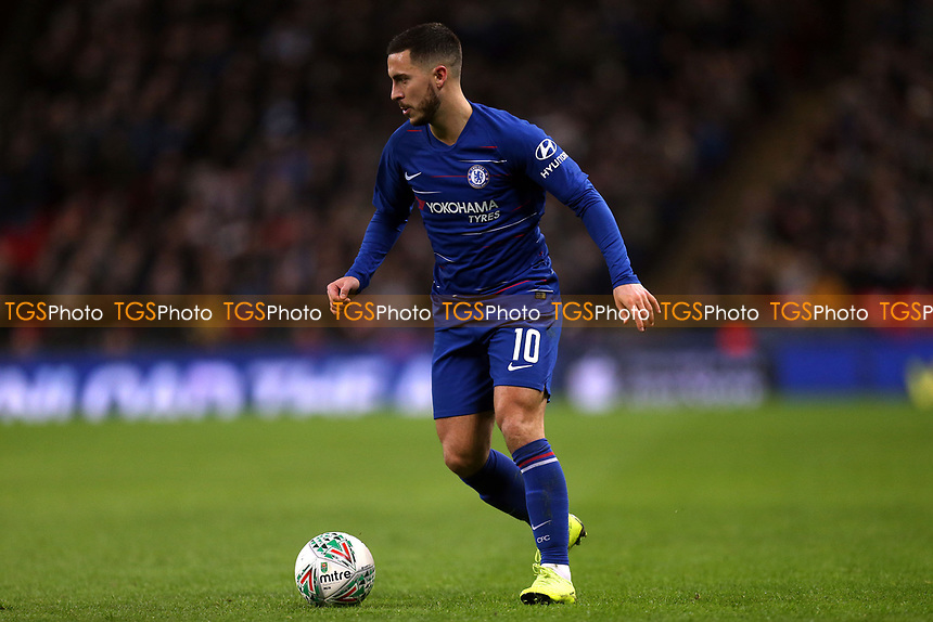 Eden Hazard of Chelsea during Tottenham Hotspur vs Chelsea, Caraboa Cup Football at Wembley Stadium on 8th January 2019