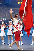 Roger Federer portabandiera della Svizzera<br /> Pechino - Beijing 8/8/2008 Olimpiadi 2008 Olympic Games<br /> The Opening ceremony for the XXIX Olympic games.<br /> Cerimonia d'apertura delle Olimpiadi di Pechino 2008<br /> Foto Andrea Staccioli Insidefoto