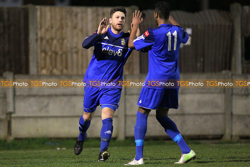 Petrit Elbi celebrates scoring the first goal for Aveley - Aveley vs Redbridge - Ryman League Division One North Football at Mill Field, Aveley, Essex - 23/03/15 - MANDATORY CREDIT: TGSPHOTO - Self billing applies where appropriate - contact@tgsphoto.co.uk - NO UNPAID USE