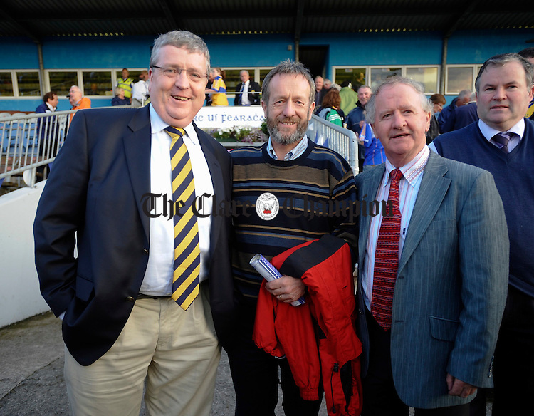 Pat Breen, TD., Sean Kelly , MEP and Councillor Gabriel Keating at the U-21 Munster hurling final in Dungarvan. Photograph by John Kelly.